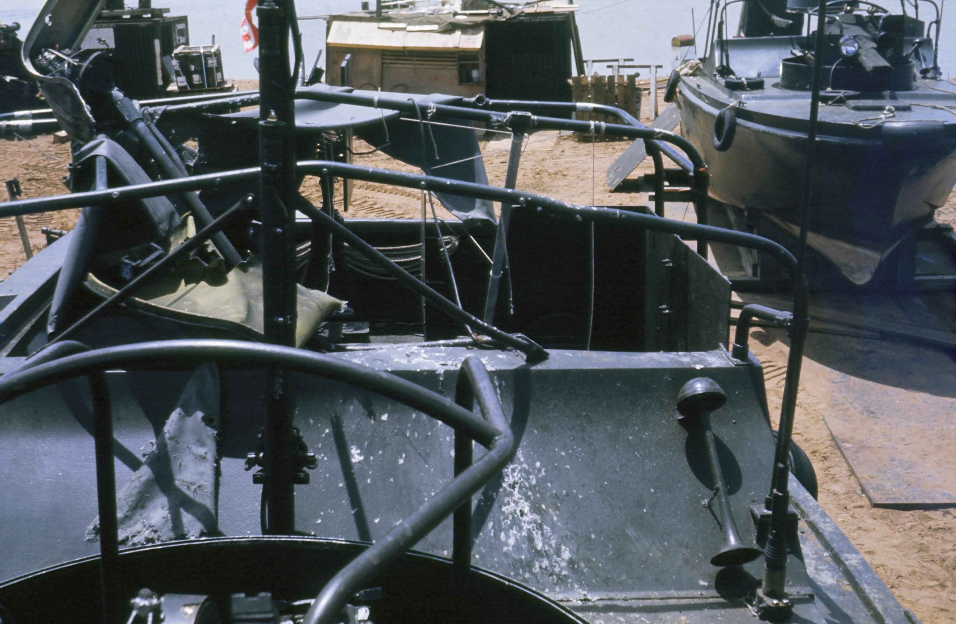 My boat after fire fight June 1967